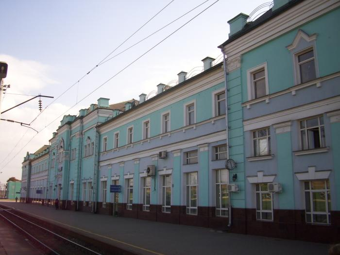 На станции Грязи поезд