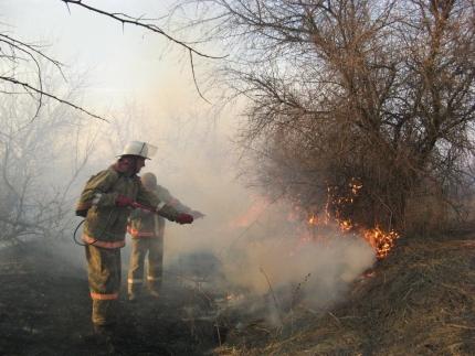 Экстренное предупреждение в связи с ландшафтными пожарами в Волгоградской области