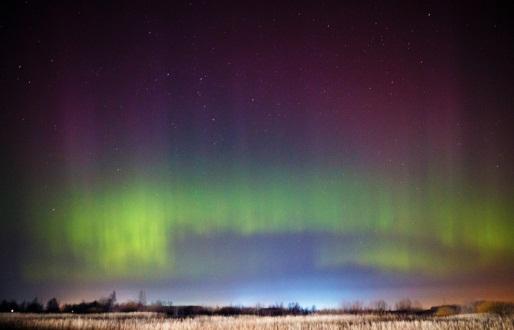 В Волгоградской области астроному-любителю удалось сфотографировать полярное сияние