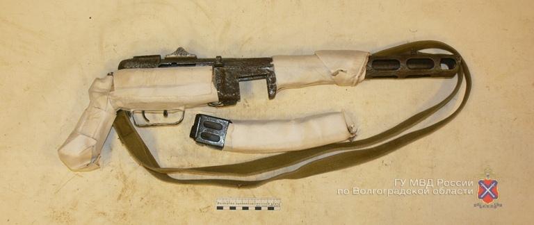 У жителя Волгоградской области изъят пистолет-пулемет системы «Шпагина»