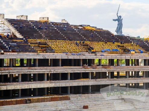 В Волгограде возведена основная конструкция здания будущего стадиона к ЧМ - 2018