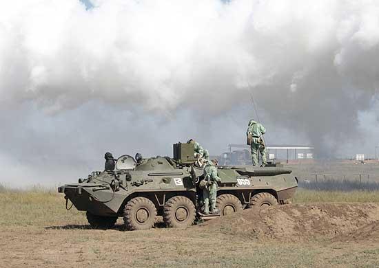 Войска РХБЗ в ЮВО ликвидируют последствие техногенной аварии